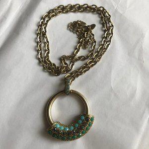 Lia Sophia Long Circular Necklace